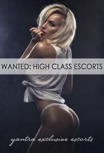 Wanted High Class Escorts